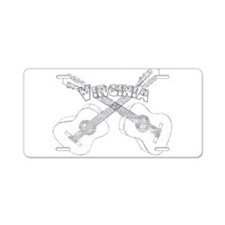 Virginia Guitars Aluminum License Plate