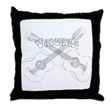 Virginia Guitars Throw Pillow