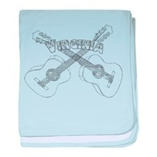 Virginia Guitars baby blanket
