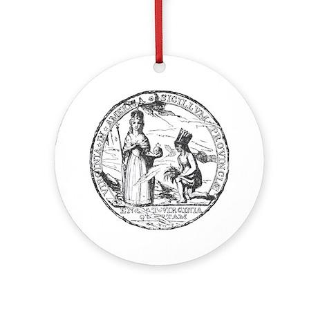 Virginia Seal Ornament (Round)
