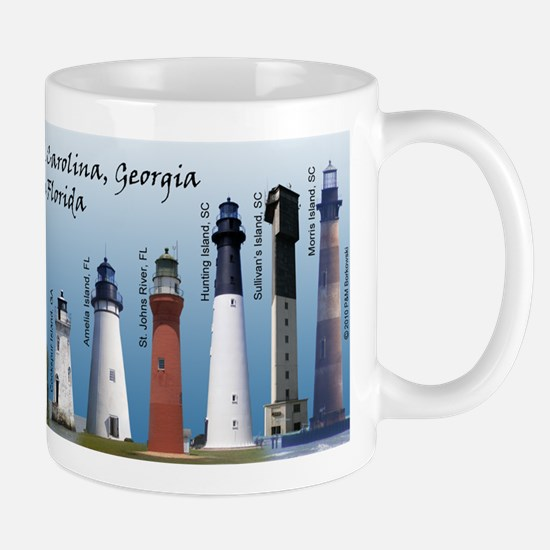 Lighthouses of SC, GA, & N. F Mug