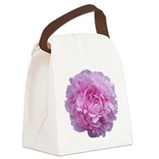 Pink Peony Flower Canvas Lunch Bag