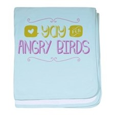 Yay for Angry Birds baby blanket
