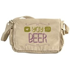 Yay for Beer Messenger Bag