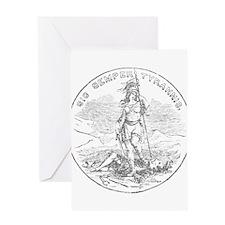 Vintage Virginia State Seal Greeting Card