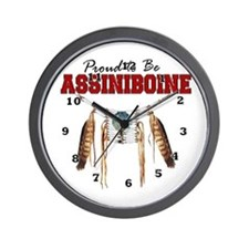 Proud to be Assiniboine Wall Clock