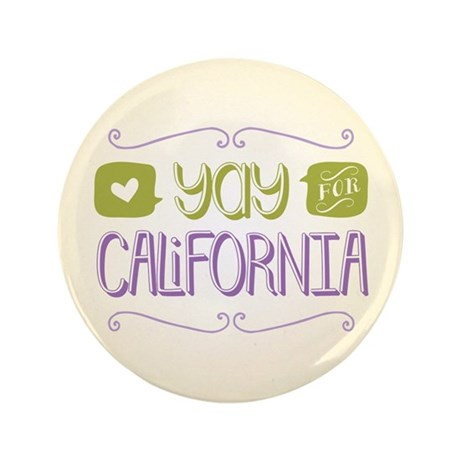 "Yay for California 3.5"" Button (100 pack)"