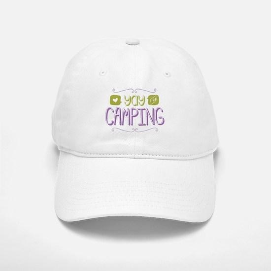 Yay for Camping Baseball Baseball Baseball Cap