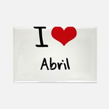 I Love Abril Rectangle Magnet