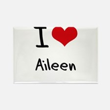 I Love Aileen Rectangle Magnet