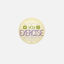 Yay for Exercise Mini Button (100 pack)
