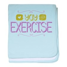 Yay for Exercise baby blanket
