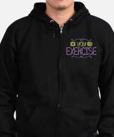 Yay for Exercise Zip Hoodie