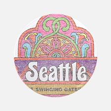 """Vintage Seattle 3.5"""" Button"""