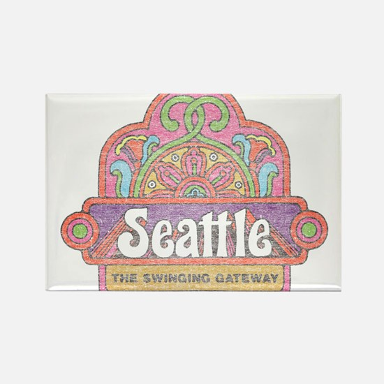 Vintage Seattle Rectangle Magnet
