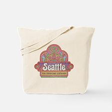 Vintage Seattle Tote Bag