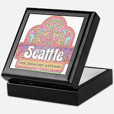 Vintage Seattle Keepsake Box