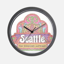 Vintage Seattle Wall Clock