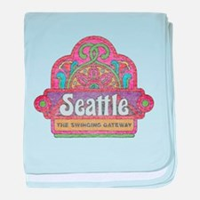 Vintage Seattle baby blanket