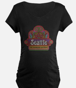 Vintage Seattle Maternity T-Shirt