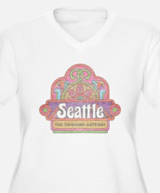 Vintage Seattle Plus Size T-Shirt