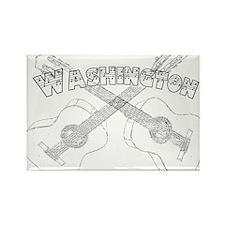 Washington Guitars Rectangle Magnet