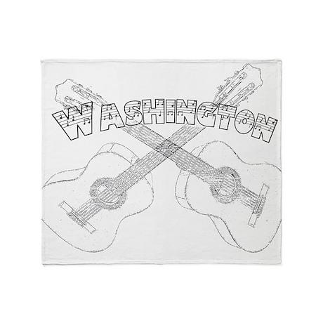 Washington Guitars Throw Blanket