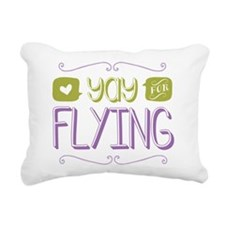 Yay for Flying Rectangular Canvas Pillow