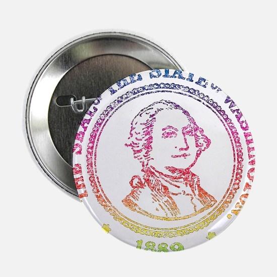 """Vintage Washington Rainbow 2.25"""" Button"""