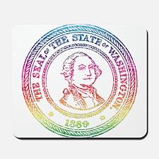 Vintage Washington Rainbow Mousepad