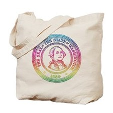 Vintage Washington Rainbow Tote Bag