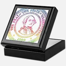 Vintage Washington Rainbow Keepsake Box