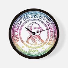 Vintage Washington Rainbow Wall Clock