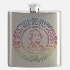 Vintage Washington Rainbow Flask