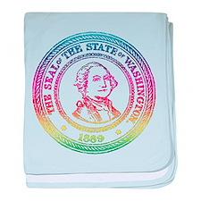 Vintage Washington Rainbow baby blanket