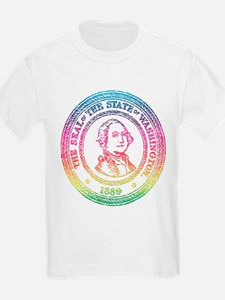 Vintage Washington Rainbow T-Shirt