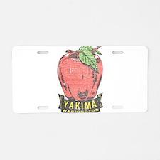 Vintage Yakima Apple Aluminum License Plate