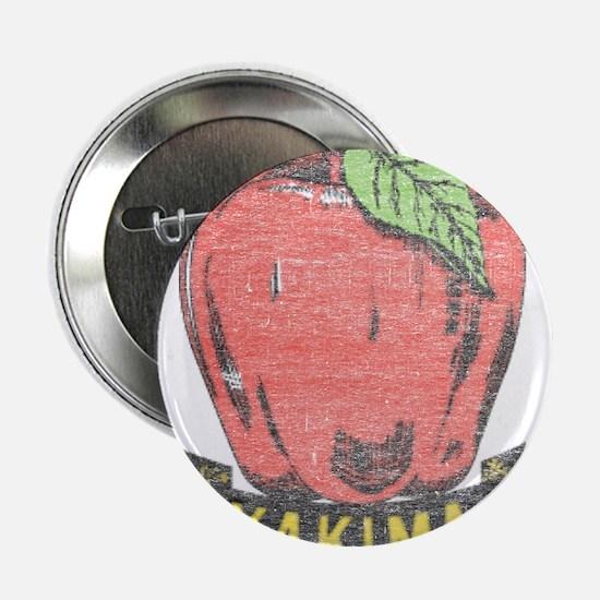 """Vintage Yakima Apple 2.25"""" Button"""