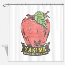 Vintage Yakima Apple Shower Curtain