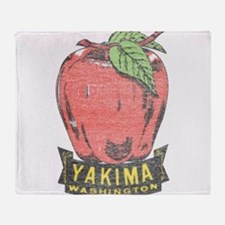 Vintage Yakima Apple Throw Blanket