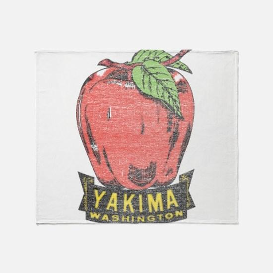 Vintage Yakima Apple Throw Blanket
