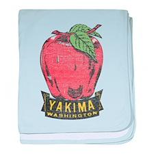 Vintage Yakima Apple baby blanket