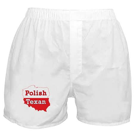 Polish Texan Poland Map Boxer Shorts