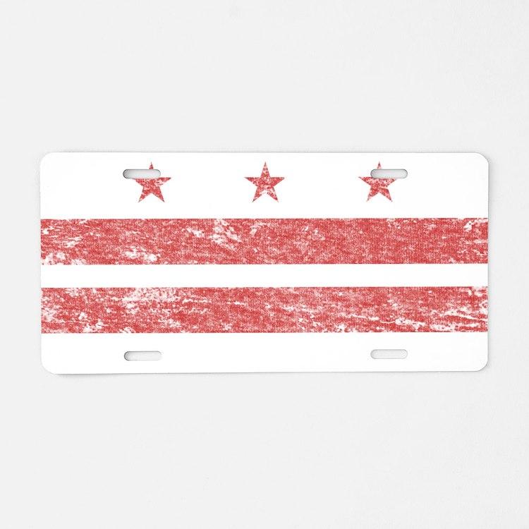 Vintage Washington DC Aluminum License Plate