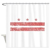 Dc flag Shower Curtains