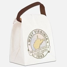 Faded West Virginia Canvas Lunch Bag