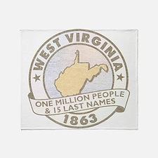 Faded West Virginia Throw Blanket