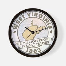 Faded West Virginia Wall Clock
