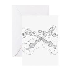 West Virginia Guitars Greeting Card