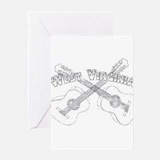 West Virginia Guitars Greeting Card